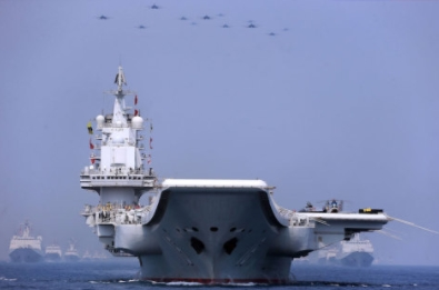 China's Largest Maritime Military Parade Showcases Aircraft Carrier Battle Group