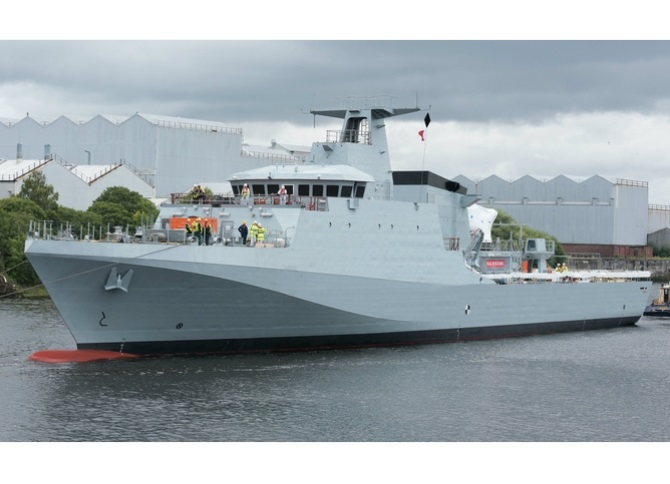 Defence Minister Announces Acceptance of Royal Navy's New Offshore Patrol Vessel Forth