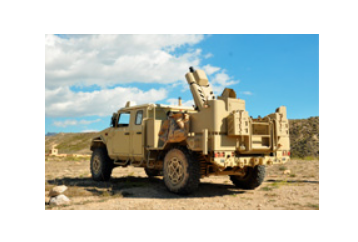 EXPAL Systems presents a new configuration of the 81 mm mortar system integrated in a 4x4 vehicle, EIMOS