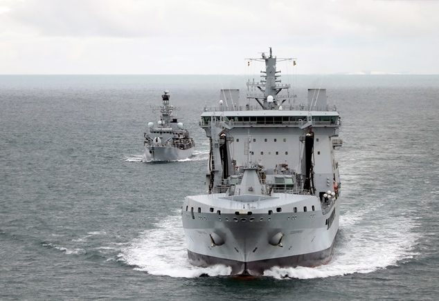 First Tanker to Support Royal Navy Carriers Sails Into Portsmouth
