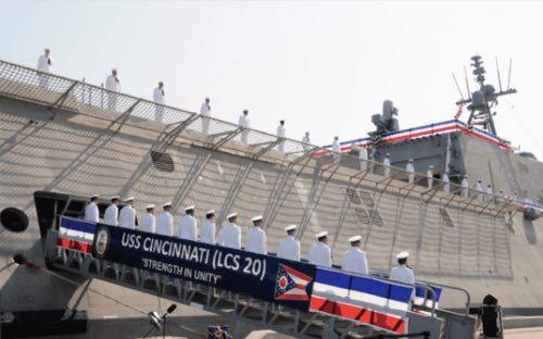 GE Marine Power: The USS Cincinnati Commissioned into U.S. Navy