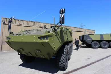 General Dynamics European Land Systems Hands Over the First Piranha Wheeled Armoured Vehicle to Denmark