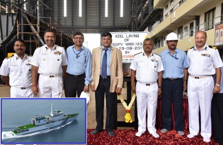 Goa Shipyard Lays Keel for 2nd Vessel of New Class OPVs
