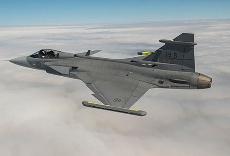 Gripen Rear Fuselage, Designed by Akaer, Passes Load Tests