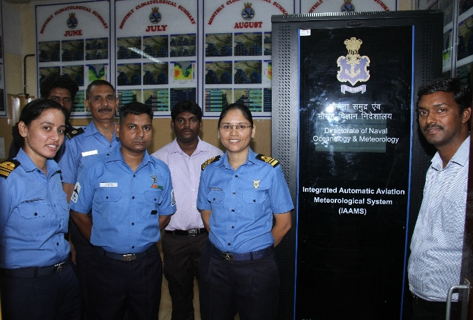 Inauguration of Integrated Automatic Aviation Meteorological Systems (IAAMS) at INS Garuda