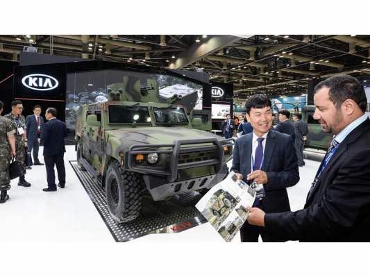 Kia Promotes Armored Vehicles at DX Korea