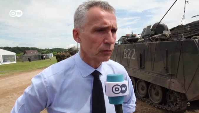 NATO's Jens Stoltenberg Warns Russia During Baltic Military Drills
