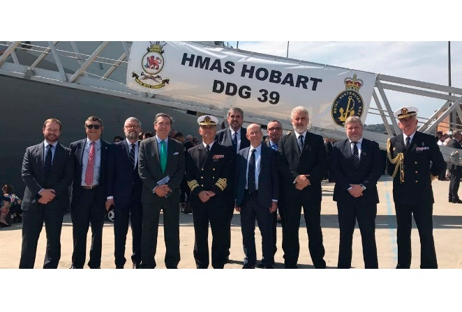 Navantia Congratulates Navy on the Commissioning of HMAS Hobart