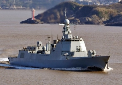 New Guided-Missile Destroyers Being Outfitted in Dalian