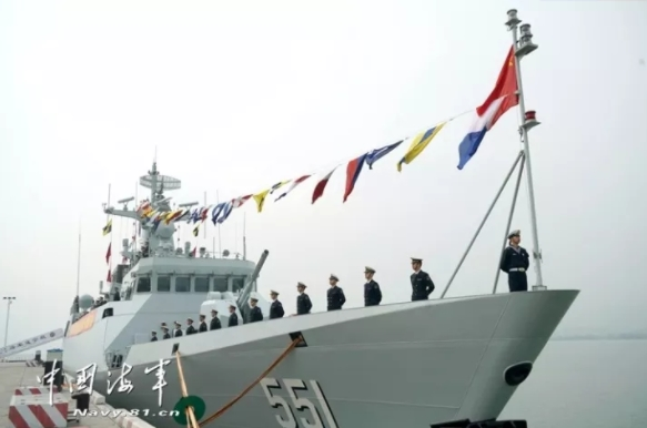 New Guided-Missile Frigate Suining Joins PLA Navy
