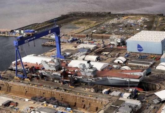 Rosyth Dockyard to Cut 250 Jobs as Carrier Work Ends