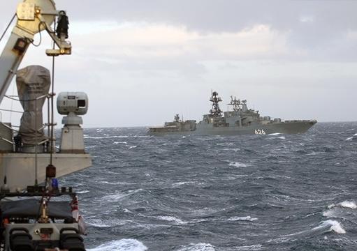 Royal Navy Frigate Shadows Russian Warship in Moray Firth