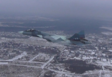 Russia's Su-57 Fifth-Generation Fighter Makes First Flight with New Engine