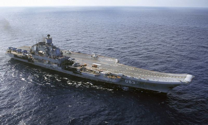 Russian fighter jet crashes near its aircraft carrier in Mediterranean, US officials say