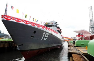 Singapore Navy Launches Fifth Littoral Mission VesselST Marine Celebrates the Launch of the Fifth Littoral Mission Vessel – Indomitable