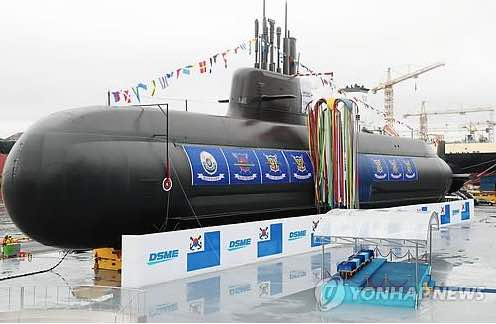 South Korea Launches 3,000-Ton Homegrown Submarine 'Dosan Ahn Chang-Ho'