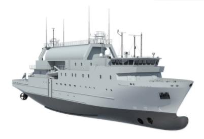 Steel Cutting Ceremony for Swedish Navy's SIGINT ship at Nauta Shipyard