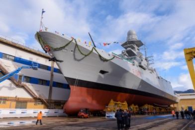 "The Eighth Multipurpose Frigate ""Antonio Marceglia"" Launched As Italian-French FREMM program continues"