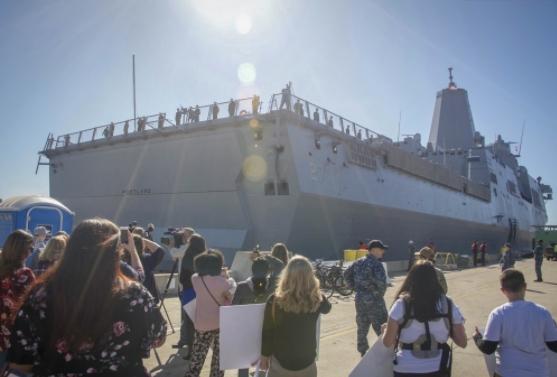 The Future USS Portland Arrives in San Diego