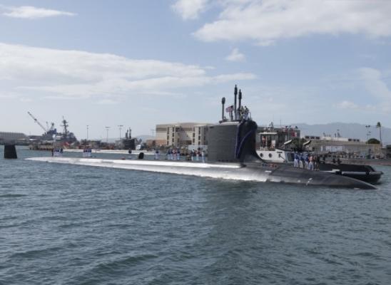 USS Illinois Arrives in Pearl Harbor