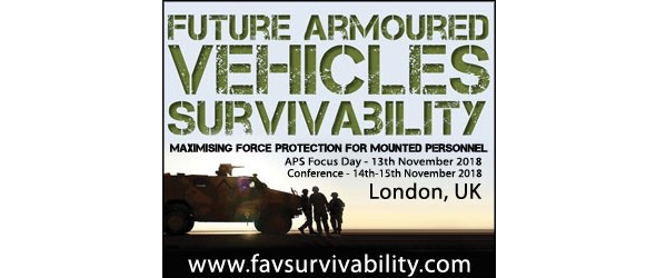 Join Rheinmetall, Raytheon and the US Army as they come together in 4 weeks' time at Future Armoured Vehicles Survivability 2018